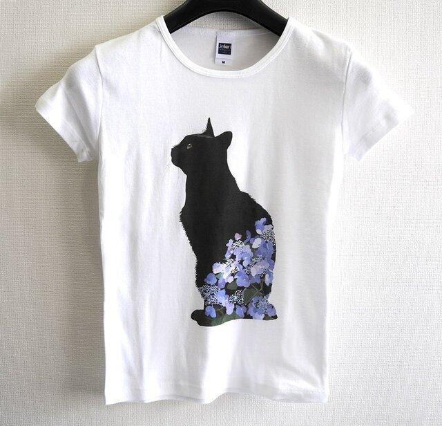 猫ともイラストtシャツレディースタイプmサイズ 岩井村