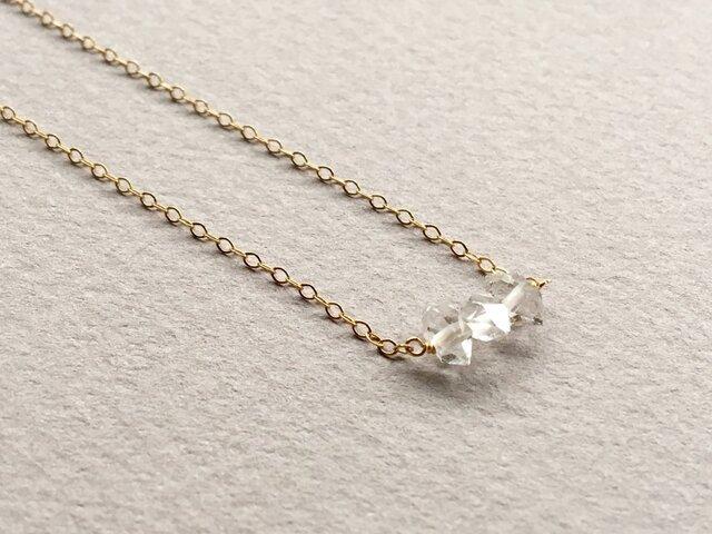 ハーキマーダイヤモンドクォーツのネックレスの画像1枚目