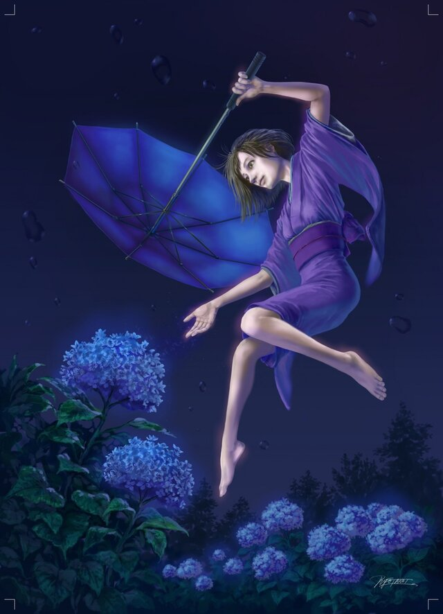 イラストカード【青のMagic】の画像1枚目