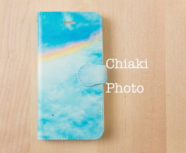 50e7eb9ef5 全機種対応】空と虹*iphone/Androidスマホケース【手帳型】 | Chiaki ...