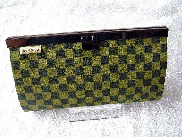 長財布(粋 緑×黄緑)の画像1枚目