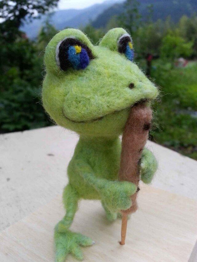 森の音楽家「カエル」バスリコーダーの画像1枚目