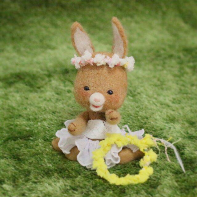 お花の冠あなたにもあげる~羊毛フェルト~の画像1枚目