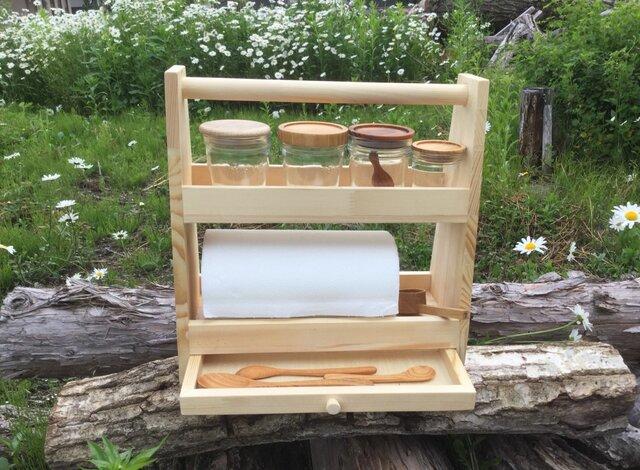 【受注制作】kitchen rack Lの画像1枚目