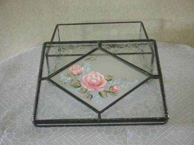 手描きBOX(ピンクの薔薇)の画像1枚目