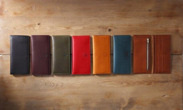 イタリア製リスシオ レザー 長財布の画像1枚目