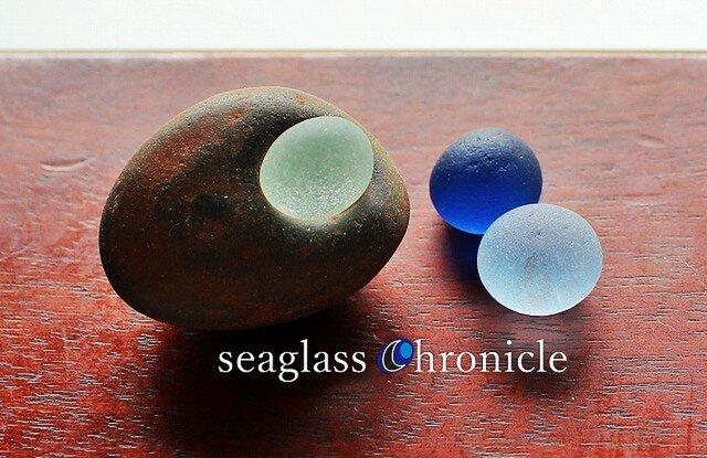 バブルシーグラスと石のオブジェ4の画像1枚目