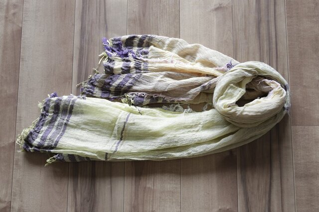 roots shawl BIG cotton100 16-a17の画像1枚目