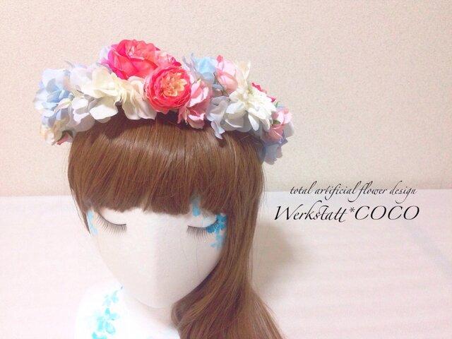 花かんむり*blue flowerの画像1枚目