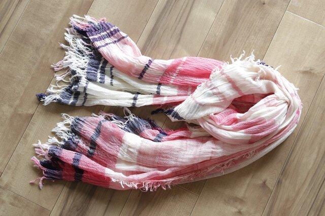 roots shawl BIG cotton100 16-a14の画像1枚目