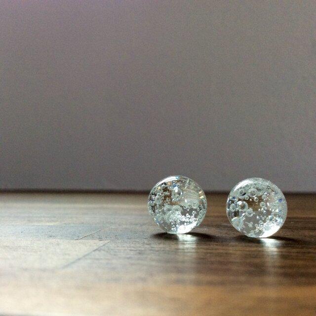 bubble drops pierce【ガラスピアス】の画像1枚目