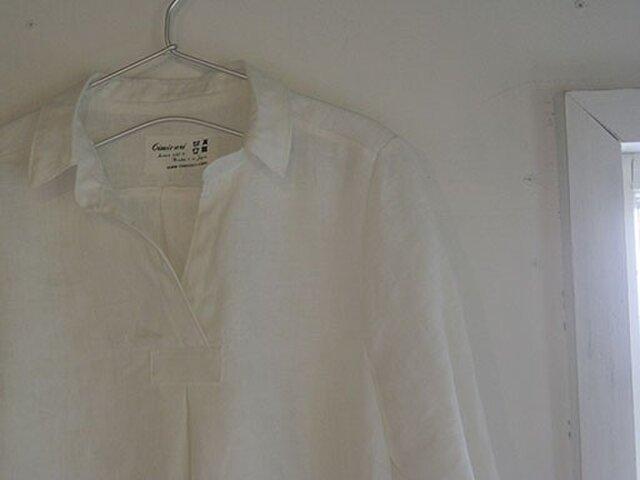 0c14de69d482f フロントタックブラウス:白   cimicuri   ハンドメイド通販 iichi(いいち)