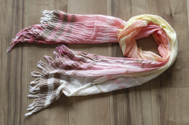 roots shawl MIDDLE cotton100 16-b08の画像1枚目