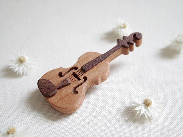 バイオリンのブローチの画像1枚目