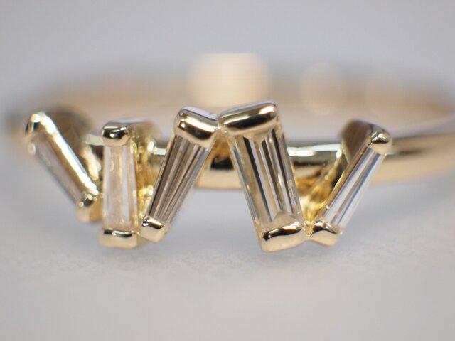 K18テーパーダイヤ/指輪の画像1枚目