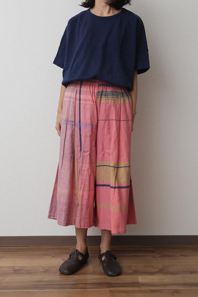 wide pants SHORT cotton100の画像1枚目