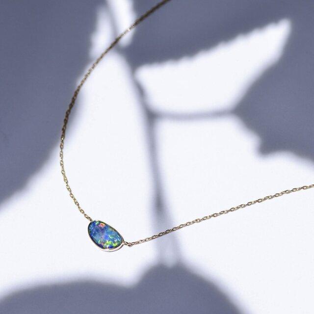 Azure Blue -Necklace-◇K18YG/PG×Opalの画像1枚目