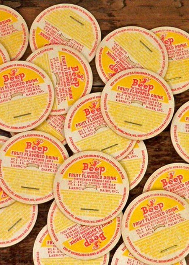 VintageミルクキャップVol.15 DA-MC015の画像1枚目