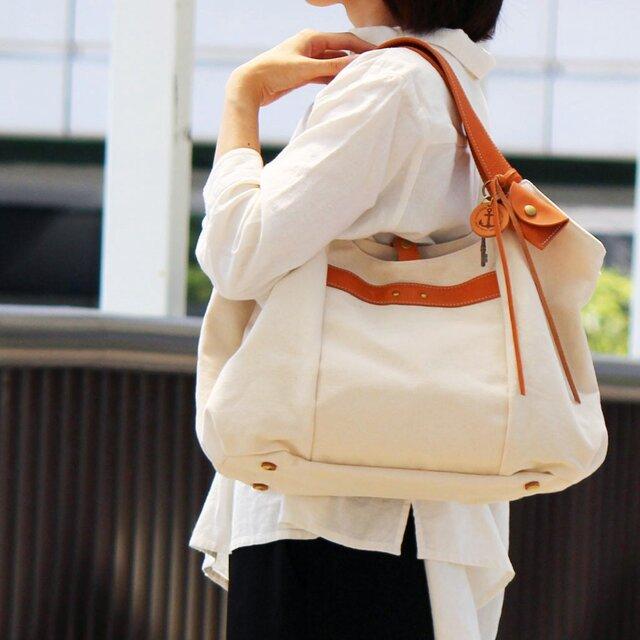 tanton-生成(倉敷帆布×レザートートバッグ)の画像1枚目