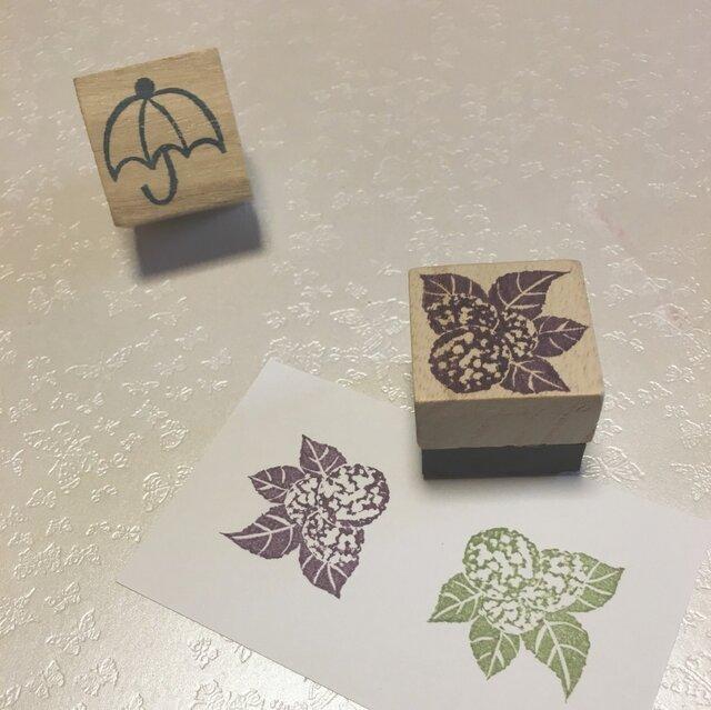 季節の花はんこ【あじさい】3cm四方の画像1枚目