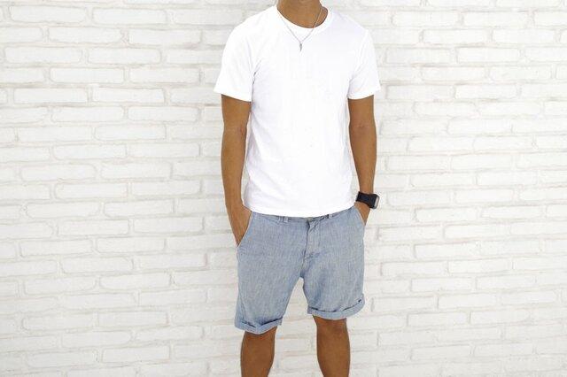 メンズビスコースアースTシャツ<ホワイト>Mサイズの画像1枚目