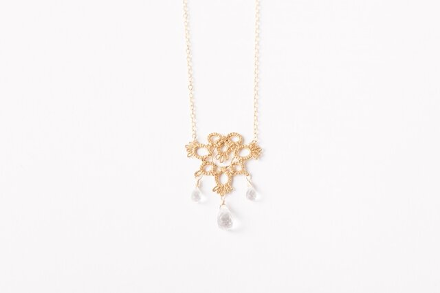 Lace necklace Tringle goldの画像1枚目