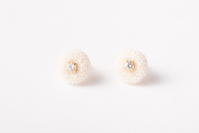 Dragee Earring  01 Whiteの画像1枚目