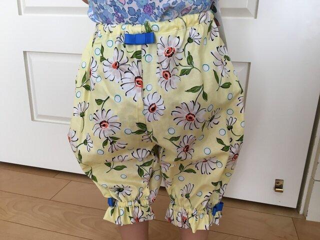 パッと華やぐマーガレット夏色ベビーパンツの画像1枚目