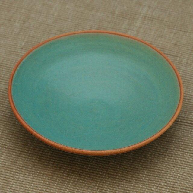 【SOLD OUT】陶器:トルコブルー(マット)の皿の画像1枚目