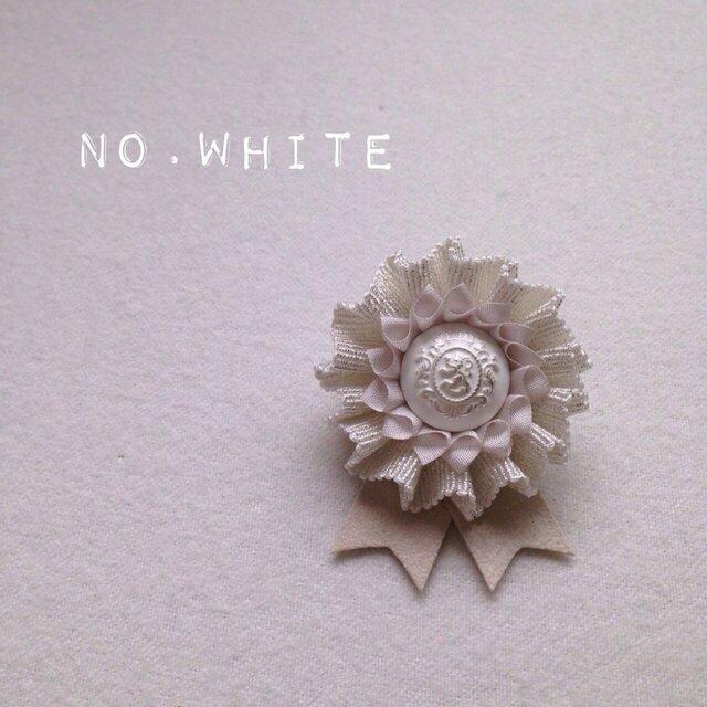 ロゼット * NO.lamé * whiteの画像1枚目