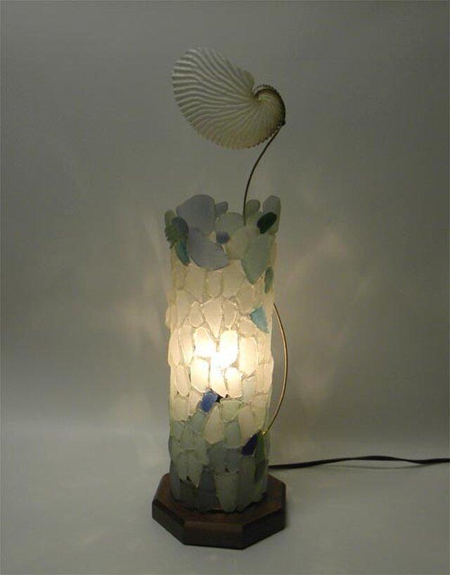 あおい貝のランプ2の画像1枚目