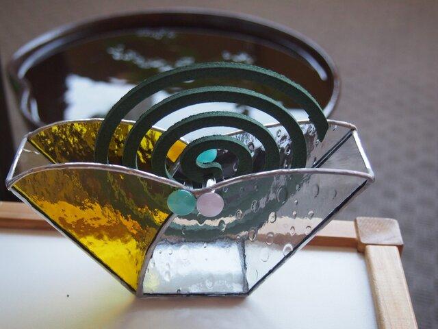 ステンドグラスの蚊取り線香ホルダーの画像1枚目
