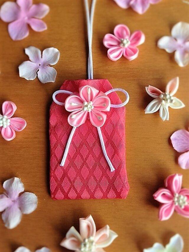 元巫女が作る花のお守り袋(桜花菱)の画像1枚目