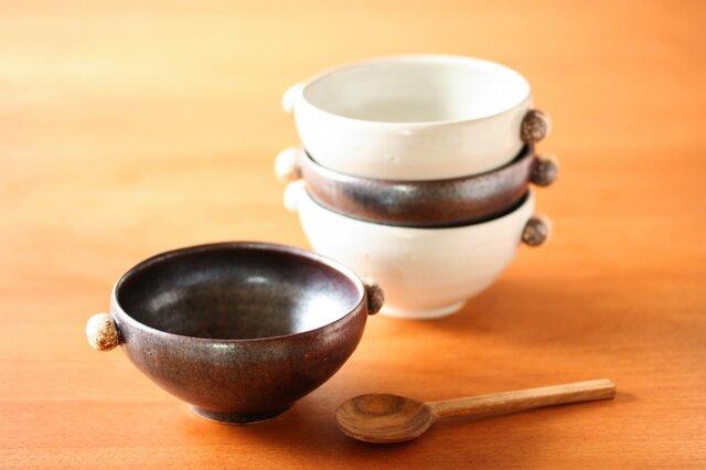石ころのスープカップ(黒釉)の画像1枚目