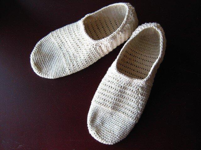 オーガニックコットン靴下(生成り)/23.0~23.5 再販の画像1枚目