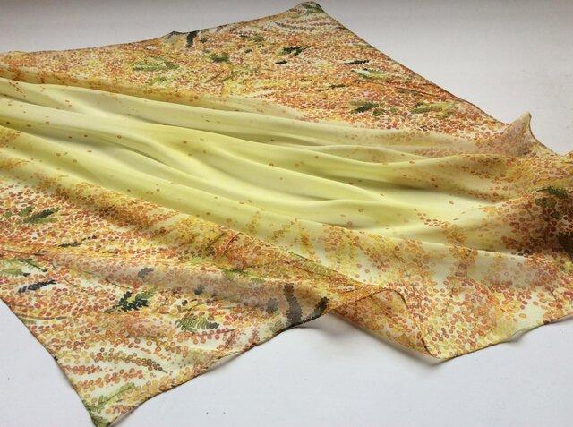 シルクスカーフ「mimosa」の画像1枚目