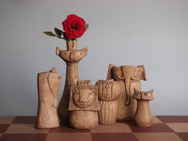 SAVANNA   Chess vase         サバンナ チェスベース  イエローオーカーの画像1枚目