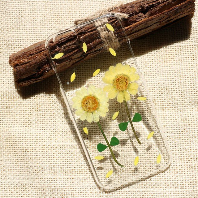 押し花ケース iPhone/Galaxy/Xperia 多機種対応 スマホカバー 花柄 スマホケース  NO:mu034の画像1枚目
