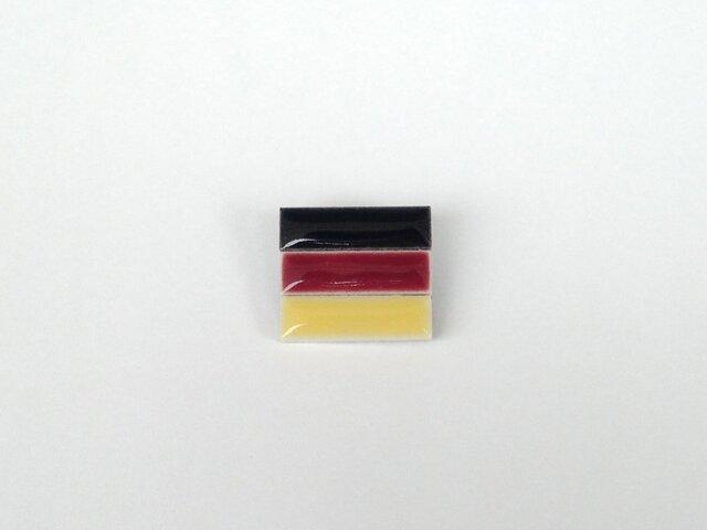 受注生産 ドイツ国旗のブローチの画像1枚目