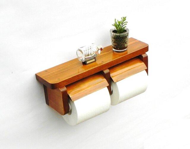 木製トイレットペーパーホルダー Ver.3(オーク)の画像1枚目