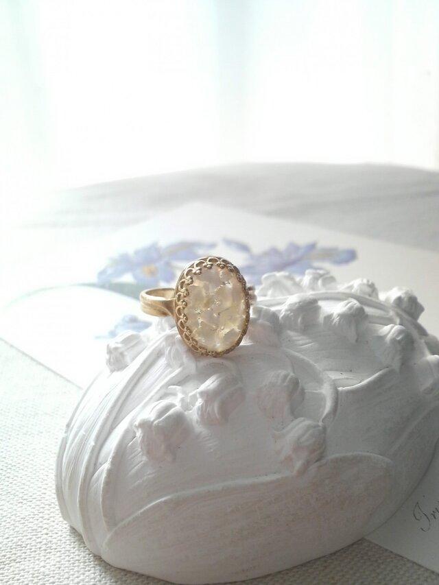 ヴィンテージ 花びらのようなクラシカル指輪の画像1枚目