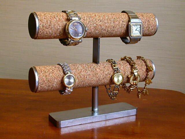 2段腕時計スタンドの画像1枚目
