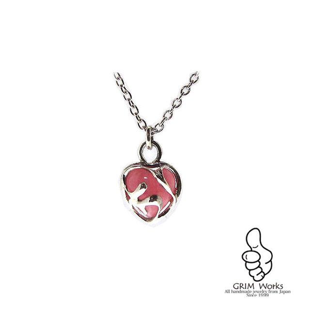 Cute Heart ネックレス  (インカローズ)の画像1枚目
