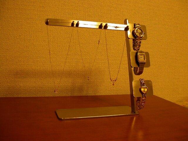 ネックレス&腕時計ディスプレイスタンド  ステンレスの画像1枚目
