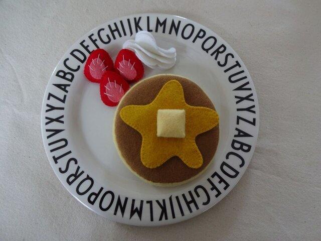 ホットケーキ フルーツ添えの画像1枚目