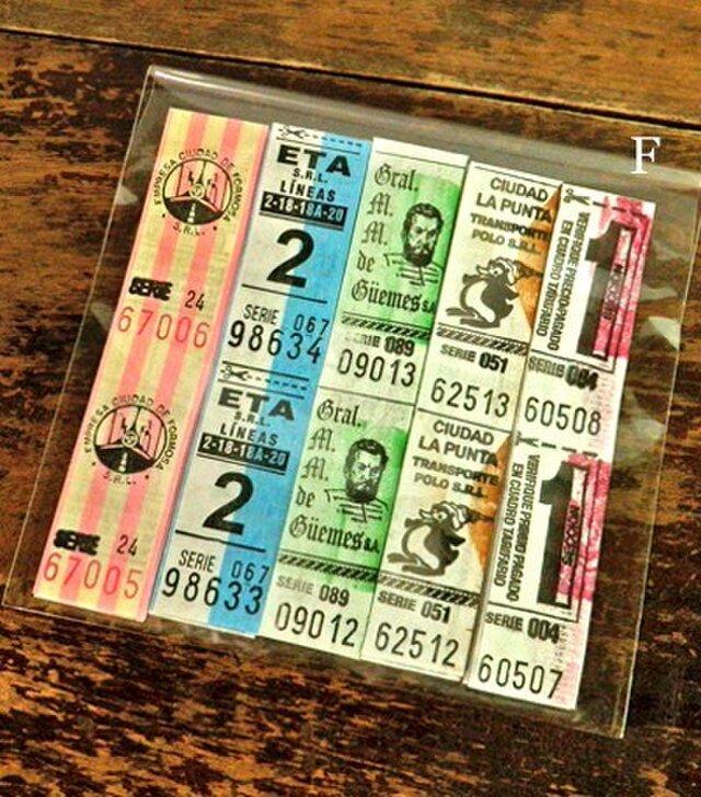 50枚【F】アルゼンチンVintageバスチケット DA-BTA040の画像1枚目