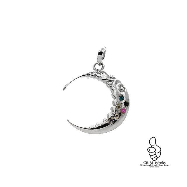 6PC天然石 ~光る月~の画像1枚目