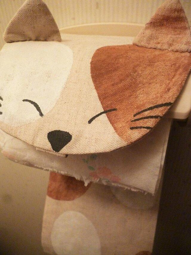 トイレットペーパーホルダー 三毛猫の画像1枚目