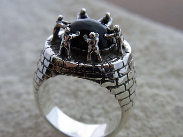 L & P Ring with stone [grocca]の画像1枚目