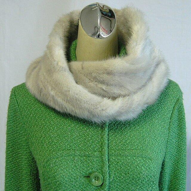 ¶ new antique fur ¶ サファイアミンクファーnejiriスヌード「giles」再販の画像1枚目
